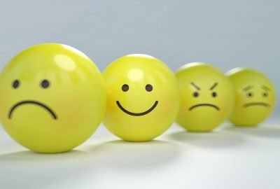 Selection of smileys with diverse moods